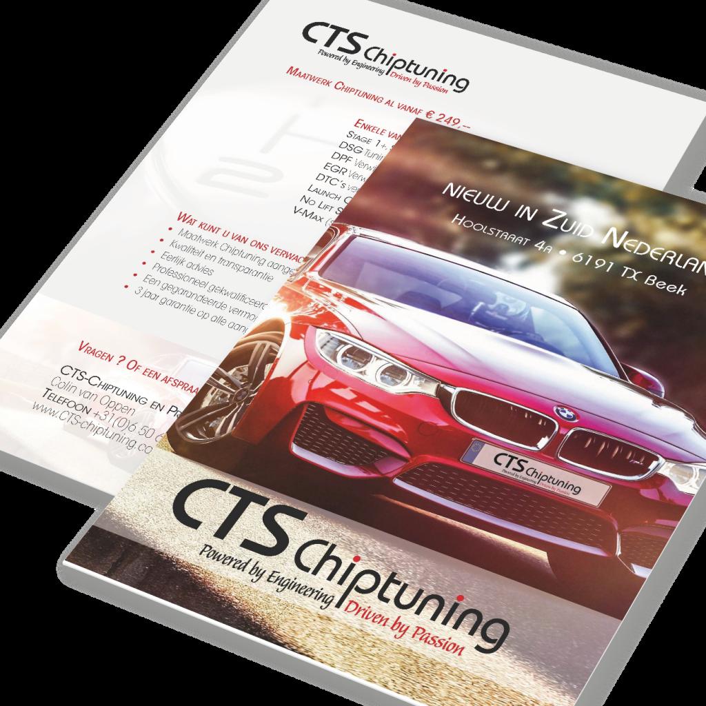Attività flyer voor CTS Chiptuning Beek