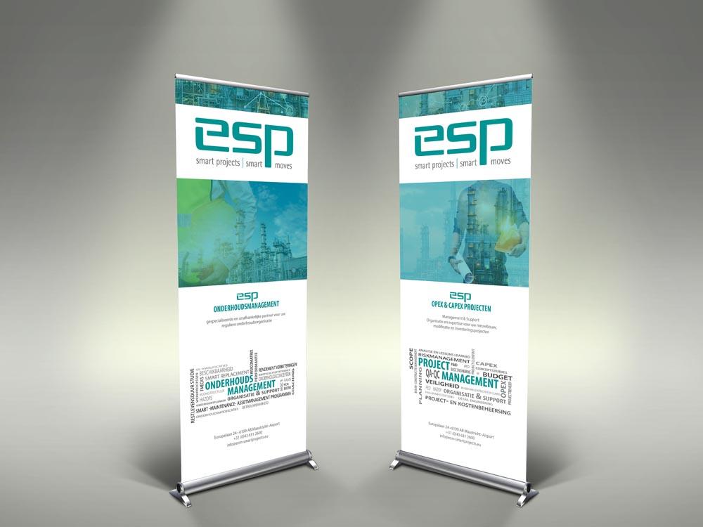 Attività - rollup banner voor ESP Maastricht