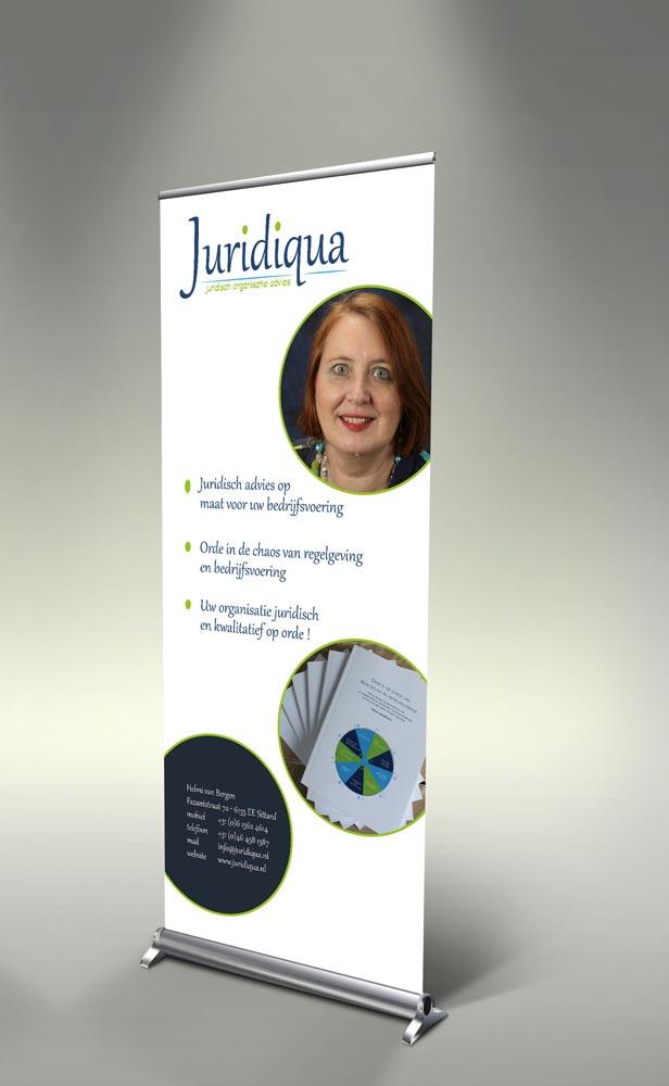 Attività - rollup banner voor Juridiqua Sittard