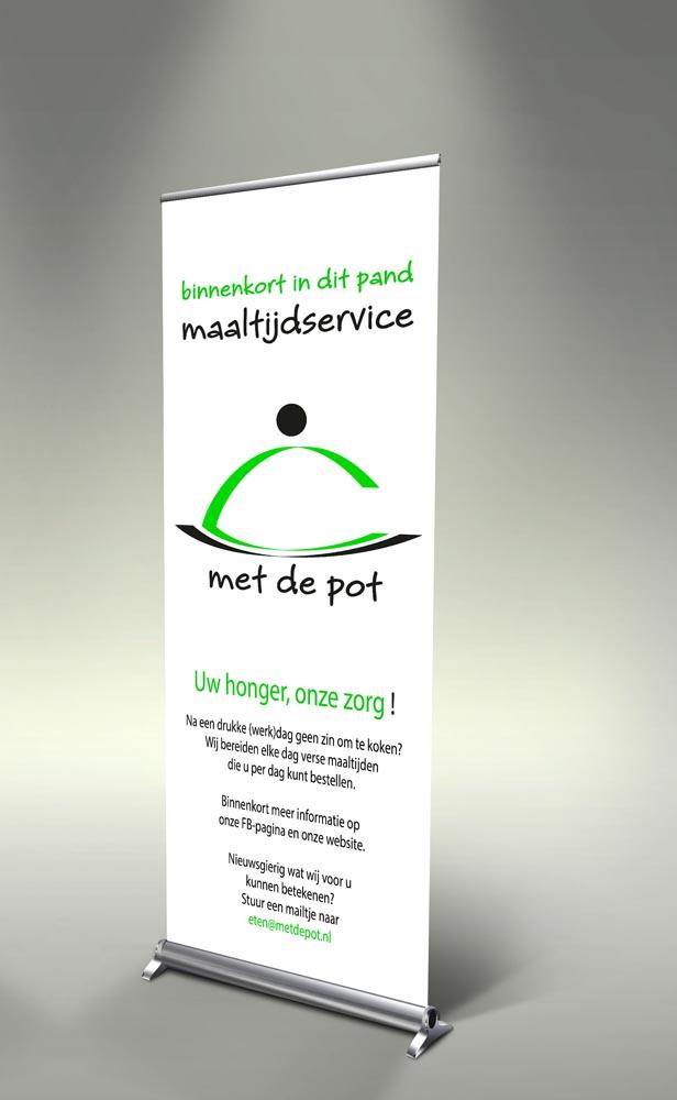 Attività - rollup banner voor Met de Pot Geleen