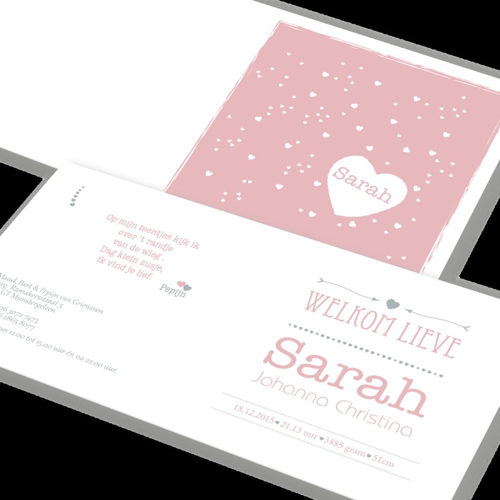 Attività geboortekaartje voor Sarah